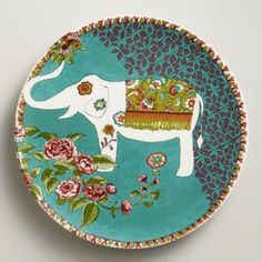 One of my favorite discoveries at WorldMarket.com: White Nomad Elephant Plates, Set of 4