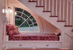 understairs reading nook by Eva0707