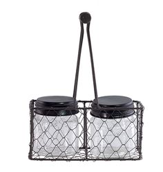TGA54916 - Black Rectangular Mesh Basket, 7.5 in. x 4 in. x 9.5 in.
