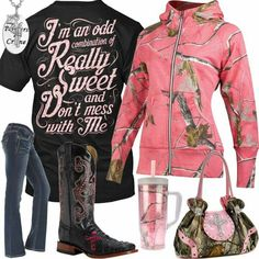 I'm An Odd Combination Pink Realtree Sweatshirt Outfit – Real Country Ladies Camo Girl Outfits, Jean Outfits, Cute Outfits, Fashion Outfits, Country Style Outfits, Sweatshirt Outfit, Cowgirl Style, Clothes For Women, My Style