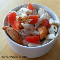 What's Cooking in the Burbs: Creamy Italian Chicken Pasta Salad