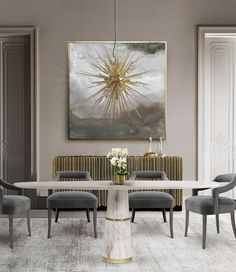 Thinking about the smallest things, we decided to gather a few elegant dining room ideas to help you upgrade your next meal with friends, family or guests.
