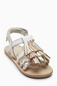 Buy White Tassel Sandals (Younger Girls) from the Next UK online shop