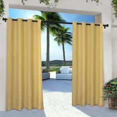 Denton Solid Room Darkening Outdoor Grommet Curtain Panels