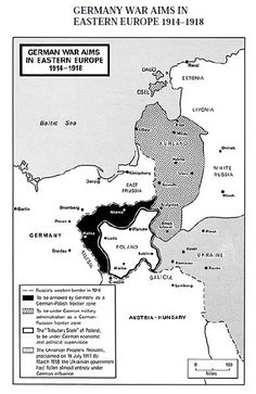 WWI, Oct 5, 1916 - Hindenburg mentions Creation of a Polish Kingdom. Pictured - German war aims in Eastern Europe. The planned Kingdom of Poland was to be a rump state on Germany's new border.