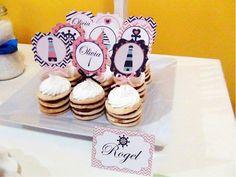 SD Eventos: LISTOS PARA ZARPAR! Mesa dulce temática Náutico niña Nautic girl party Sweet table  Mini tortas temáticas Rogel