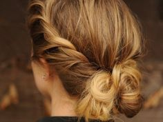 messy twisted low bun #hair