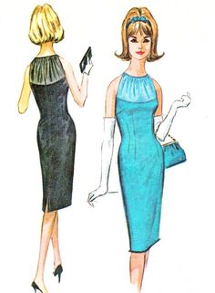 1960s Evening Dress Pattern McCalls 7065 Sleeveless by paneenjerez, $30.00