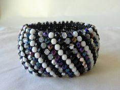 Handmade Beaded Bracelet Bead Woven Bracelet Seed Bead Bracelet by CharlotteJewelryBox