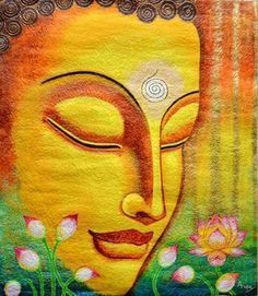 When you let go, you create space for better things to enter your life. Budha Painting, Kerala Mural Painting, Ganesha Painting, Madhubani Painting, Indian Art Paintings, Diy Canvas Art, Acrylic Painting Canvas, Fabric Painting, Painting & Drawing