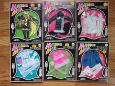 1970-mego-MADDIE-MOD-doll-lot-SIX-complete-outfits-with-original-boxes-UNUSED