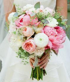 beautiful bridal bouquet, peonies, ranunculus and dill - Wedding // Hochzeit - brautkleid Peony Bouquet Wedding, Bridal Bouquet Pink, Spring Wedding Flowers, White Wedding Bouquets, Bride Bouquets, Floral Wedding, Trendy Wedding, Flower Bouquets, Purple Wedding