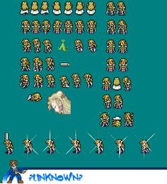 SNES - Final Fantasy 6 - Celes Chere - The Spriters Resource
