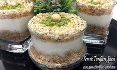 Muhallebili Kadayıf Tatlısı Tarifi, En Güzel Nasıl Yapılır? Tüm detaylarını ve püf noktalarını resimli olarak anlatıyoruz. Muhallebili Kadayıf Tatlısı Tarifi İçin Malzemeler 150 gr tel kadayıf, 3 yemek kaşığı toz şeker, 2,5 yemek kaşığı tereyağı, Yarım su bardağı kırık ceviz. Muhallebisi İçin: Yarım litre süt (2,5 su bardağı), 2 yemek kaşığı un, 1,5 yemek kaşığı mısır nişastası, 5 yemek kaşığı toz şeker, 1 adet yumurta, Yarım paket vanilya