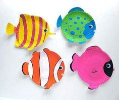 Paper plate fish.
