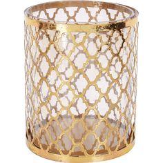 Gold Tone Cut Out Lantern - TK Maxx