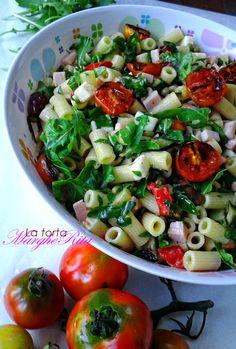 La Torta Margherita: Tubetti in insalata con pomodorini arrostiti