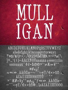 Mulligan - Typeface. Display Fonts. $11.00
