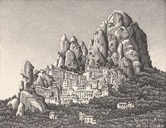 MC Escher Lithographs - Pentedattilo,1930