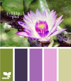 lily pad color pallet