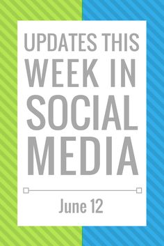 Your Weekly Social Media Update- June 26 - The Agency Marketing Group Social Media Updates, The Agency, Marketing Professional, Promote Your Business, Social Media Marketing, Blog, June 19, Group, Platform