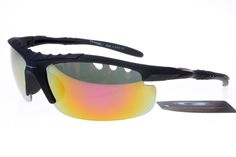 Oakley Womens Sunglasses Black Frame Rainbow Lens 1204