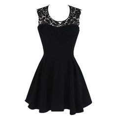 Eyekepper Women's Halter Neck Lace Back Zip Backless Double Layer... (€23) ❤ liked on Polyvore featuring dresses, black halter neck dress, layered dress, black dress, halter top and black backless cocktail dress