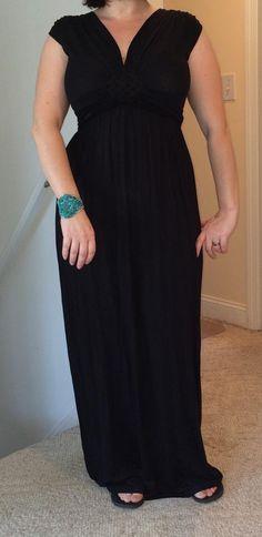#Stitchfix Gilli Jessie Maxi Dress in black KEEP!  Zad Verano Beaded Diamond Bracelet KEEP!