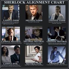 I'd actually switch Mrs Hudson and John, but who knows, maybe she did more than marry a man running a cartel?