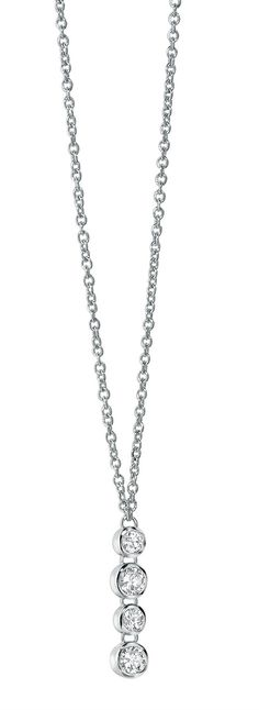 Fiorelli Sterling Silver Pendant Necklace With Swarovski Elements - yourgifthouse
