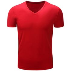 V Neck Slimming Short Sleeve T Shirt (19 BAM) ❤ liked on Polyvore featuring men's fashion, men's clothing, men's shirts, men's t-shirts, mens vneck shirts, mens slim fit shirts, mens slim shirts, mens slim t shirts and mens slim fit short sleeve shirts