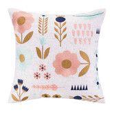 Found it at Wayfair - Elizabeth Olwen Garden Charm Embroidered Pillow