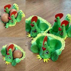 Easter basket made of 6 egg carton Easter Crafts For Kids, Craft Activities For Kids, Preschool Crafts, Egg Carton Crafts, Egg Decorating, Spring Crafts, Easter Baskets, Art For Kids, Paper Crafts