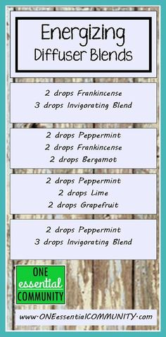 essential oil diffuser blends for energy- I'm using the peppermint, lime, and grapefruit blend this morning.  Smells great and is giving me just the little pick me up I need!