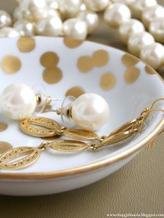 DIY Kate Spade Inspired Jewelry Dish