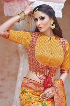 Choli Blouse Design, Blouse Designs High Neck, Silk Saree Blouse Designs, Stylish Blouse Design, Fancy Blouse Designs, Bridal Blouse Designs, Blouse Patterns, Dress Designs, Latest Saree Blouse