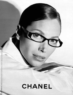 Christy Turlington for Chanel. Jessica Stam, Good To See You, Linda Evangelista, Wearing Glasses, Natural Makeup Looks, Christy Turlington, Vintage Vogue, Geek Chic, Classy And Fabulous