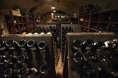 Excellent wine cellar in the Piemontese Ristorante il Centro in Priocca, Roero. #Piemonte #Piedmont #Italy