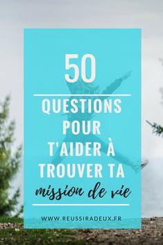 50 questions pour t'aider à trouver ta voie #developpementpersonnel #reussiradeux #blogfrance #blogueuselifestyle #blogueusefrance #estimedesoi #missiondevie #trouversavoie #eveil #avancer