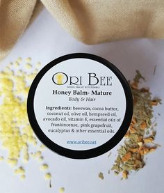 Check out this item in my Etsy shop https://www.etsy.com/listing/240337598/honey-body-hair-balm-mature-with