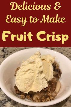 This delicious and easy to make fruit crisp is the perfect dessert after any meal. It's also a great after-school snack or treat when you have company.