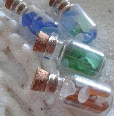 Little bits of the ocean in a tiny bottle #seaglass #beachcombing #mermaids…