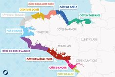 Know the names of the coasts of the Brittany coast on your fingertips