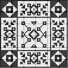 Square 47 | Free chart for cross-stitch, filet crochet | gancedo.eu