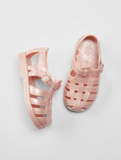 GAP Baby / Toddler Girl NWT Size 10 Light Pink Rubber Jelly Water Beach Shoes #Sandals
