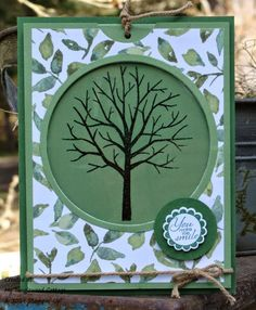 My Tanglewood Cottage: Wacky Watercooler April Fools Blog Hop.  Magic card using Sheltering Tree from Stampin' Up!