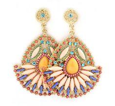 Delphine Statement Earrings in Sweet Sunshine on Emma Stine Limited