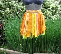 Orange and Yellow Ribbon Skirt  $20.00