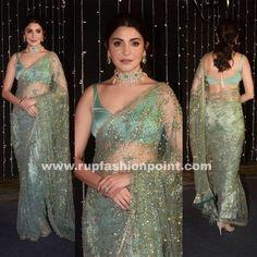 Indian Bridal Outfits, Indian Designer Outfits, Indian Dresses, Designer Sarees Wedding, Wedding Sarees, Organizer Box, Ruffles, Modern Saree, Saree Trends