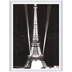"""Tower Lights 30"""" High Framed Canvas Wall Art - #6R589 